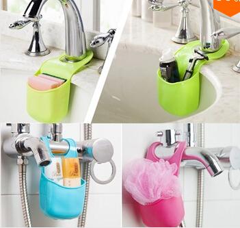 Kitchen Sink Shelving Bag Dish Cloths Rack Suction Sponge Hanging Drain Holder Faucet Multipurpose Storage Rack Free Shipping(China (Mainland))