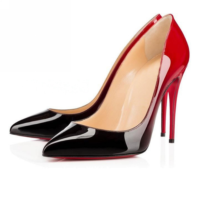 VUSUMOK Red Bottom High Heels Brand shoes Women Paint Leater Shoes Sexy Pointed Stiletto High Heels Women Pumps Plug Size 35-42(China (Mainland))