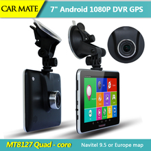 New 7 inch Full HD 1080P Car DVR Camera Recorder Car GPS Navigation Android Bluetooth MT8127 Quad-core Truck vehicle gps FM /8GB(China (Mainland))