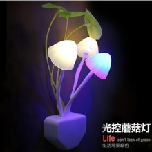 2015 new arrival Dream mushroom induction lamp colorful induction lamp small night light led lighting decoration lamp,lover gift(China (Mainland))