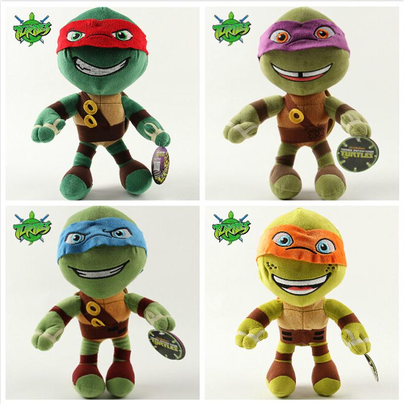 NEW 1pcs Teenage Mutant Ninja Turtles Plush Toy 30CM Stuffed Cartoon Turtle Anime Dolls Children Baby Stuffed Toys For Kids Gift(China (Mainland))