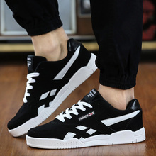 Hot sale New fashion Brand Men Shoes Casual Lace Up Canvas Shoes Men 2016 Flats Shoes For Male Trainers Black size38-47(China (Mainland))