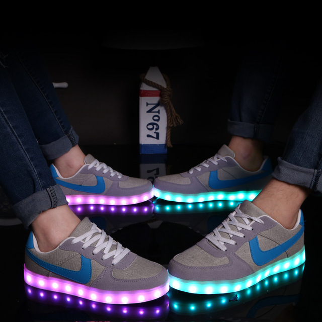 Led shoes for adults led casual men shoes led luminous shoes 2015 plus size light up casual shoes for adults