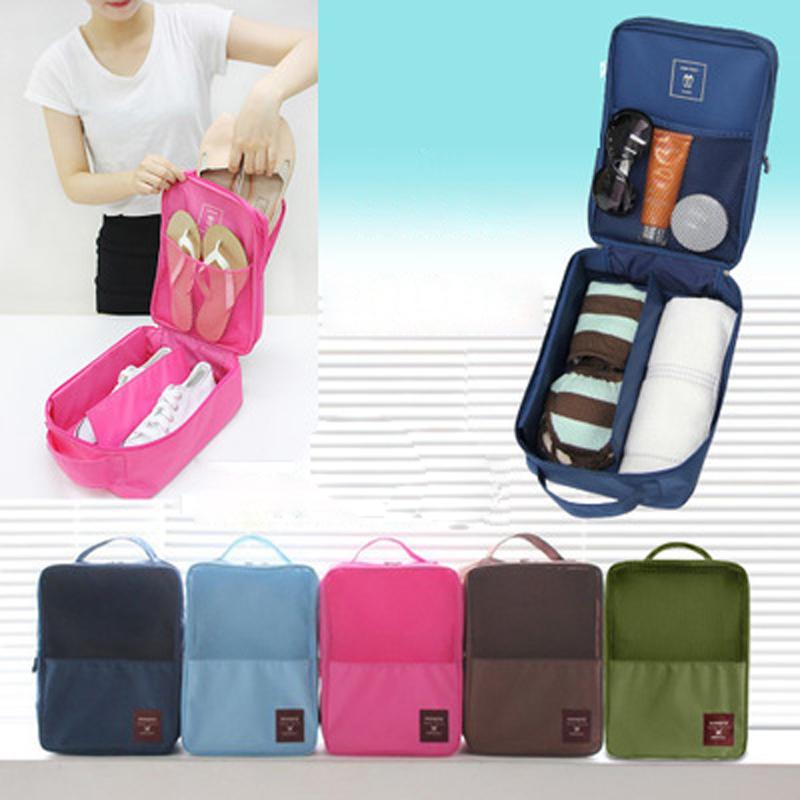 2016 New Portable Footwear finishing Storage Bags Saving Space 21.5 * 29 * 13cm Travel Bra Underwear Shoes waterproof bags(China (Mainland))