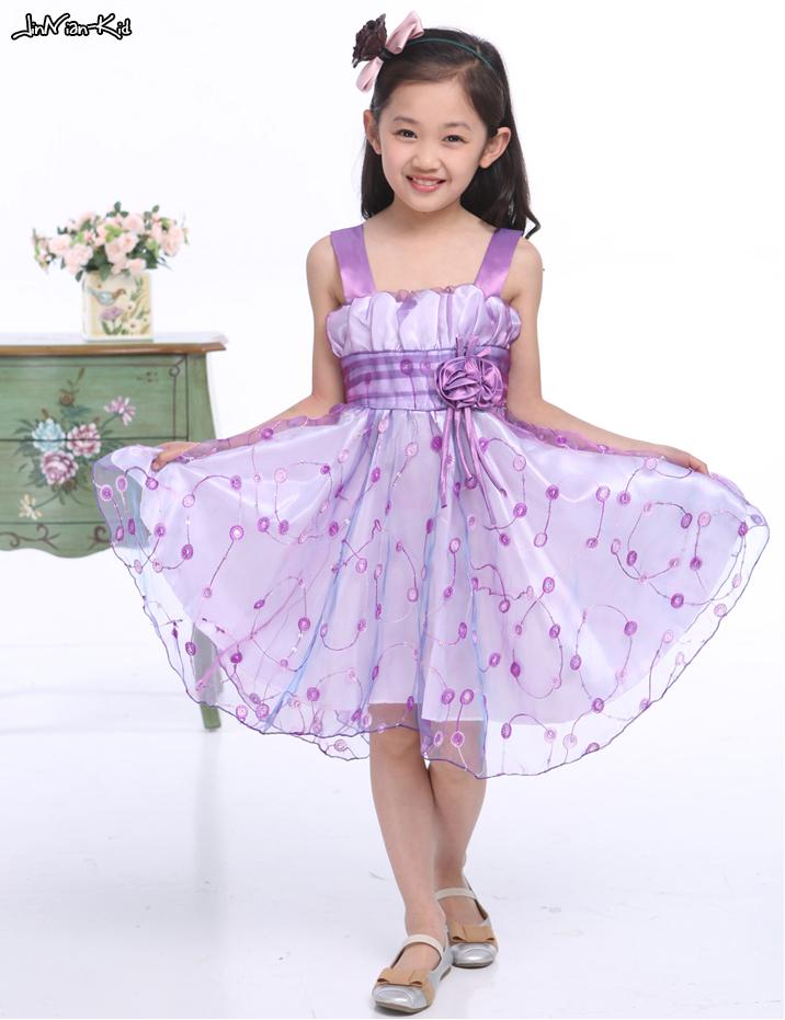 2015 Summer Girls Princess Dress Children Wedding Dress Kids Chiffon Party Dress for Girls Flower Vestidos Infantis H632(China (Mainland))