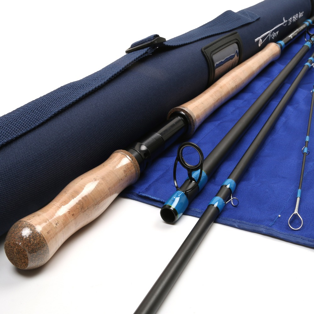 SK24 Carbon Fiber 13FT 8WT And 9WT 4PCS Fly Fishing Rod Medium-Fast Action With Cordura Tube Fly Rod(China (Mainland))