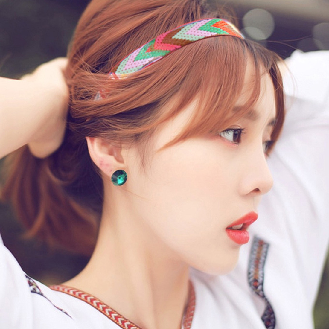 2017 Fashiong Decorated the national wind retro hair ornaments woven headband with Bohemia Headdress Hair Accessories For Girls(China (Mainland))