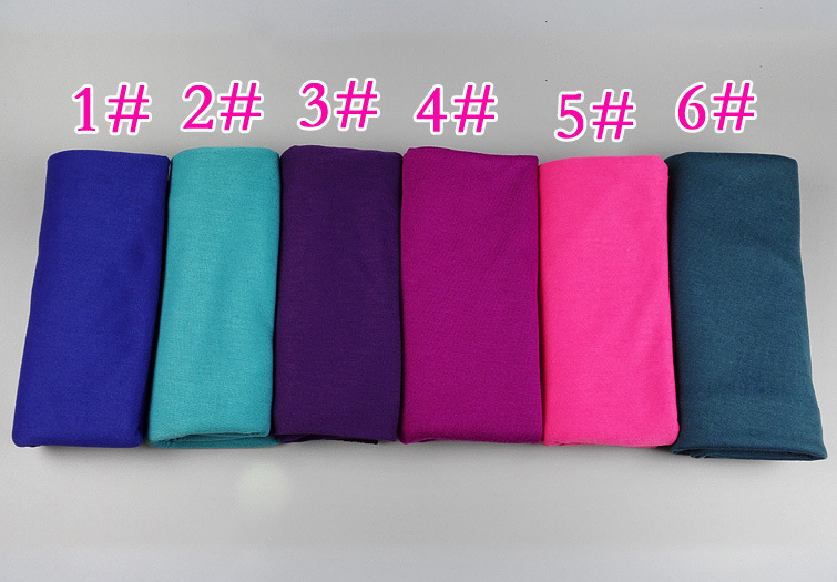 Wholesale Scarf ! Fashion Solid Plain Print Viscose Shawl Scarf Beach Wrap Hijab Accessories For Women,can choose color(China (Mainland))