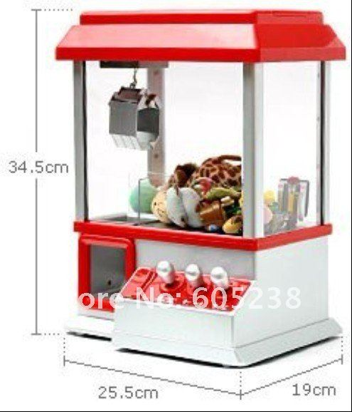 Free shipping Retro Carnival Arcade Style Candy Box Candy Grabber Machine Toy Grabber Machine(China (Mainland))