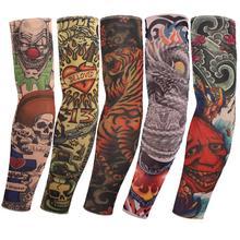 Tattoo sleeves halloween 5pc kit collection long arm  Fake tattoo glove cycling Sunscreen harajuku sleeves(China (Mainland))