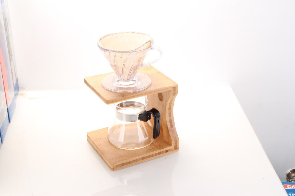 Drip coffee maker stand and drip coffee maker set