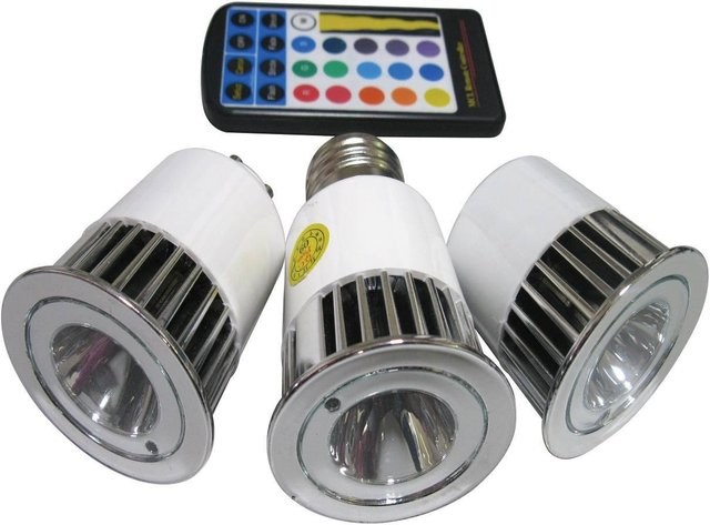 E27 LED RGB color changing light;1*5W;with IR remote controller
