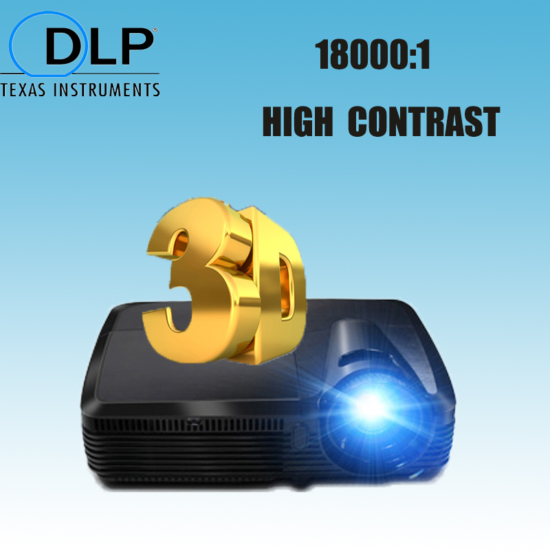 Multimedia daytime projector High Contrast ratio 18000:1 260w UHP lamp replaceable bulbs 300 inch big screen with HDMI VGA Input(China (Mainland))