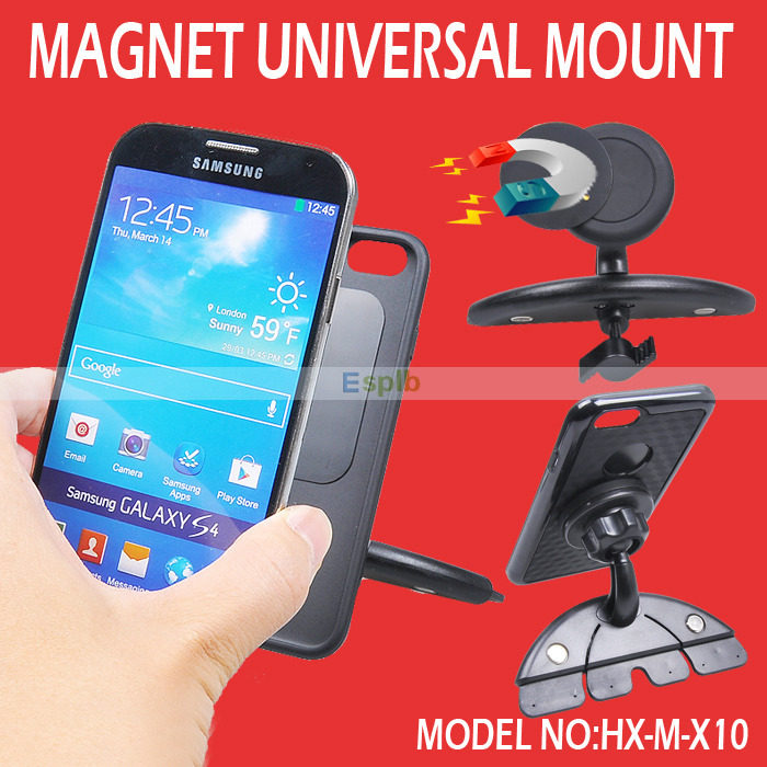 Universal Car CD Slot Dock Magnetic Mount Holder Bracket For iPhone 6 6Plus 5S Galaxy S5 Note 4 GPS MP3 4 5(China (Mainland))
