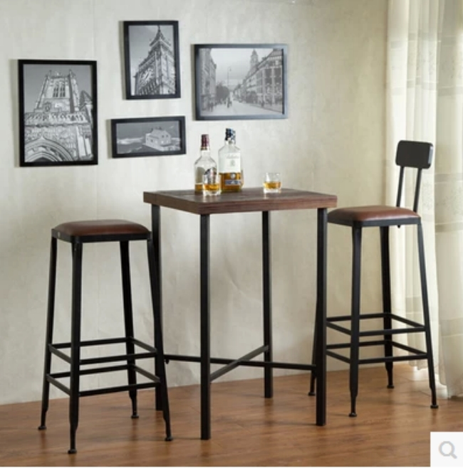 Iron Rust Proof The Home Bar Hotel Bar Stool High Chairs