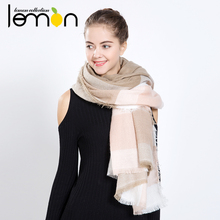 New Practical Design 2016 Winter Women Warm Plaids Pashmina Long Scarf Shawl Wrap Soft Scarves for lady Wonderful Gift NM323(China (Mainland))