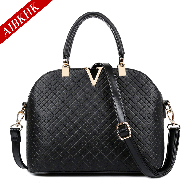 AIBKHK Genuine Leather Bag Female Fashion Shell Luxury Handbags Women Bags Designer High Quality Genuine Leather women's Handbag(China (Mainland))