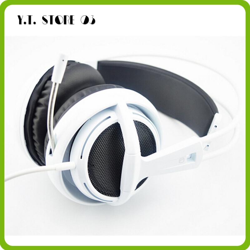 New Headphones Steelseries Siberia V2 brand noise isolating game Headphones for headphone gamer Fast Shipping(White/Black/Red)(China (Mainland))