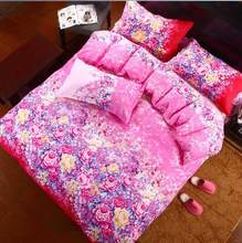 Free Shipping Modern Style Polyester Printed Duvet Cover Set Bed Sheet Pillowcase Full Size Super Soft Bedding Sets XUES008(China)
