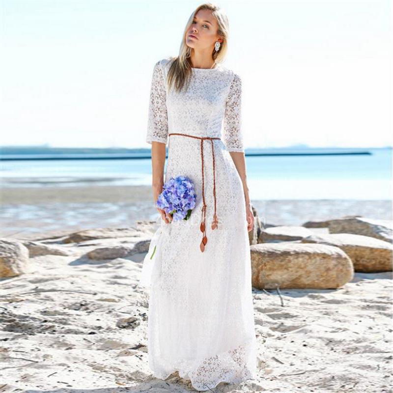 Christmas a line scoop cheap china half sleeve beach wedding dresses