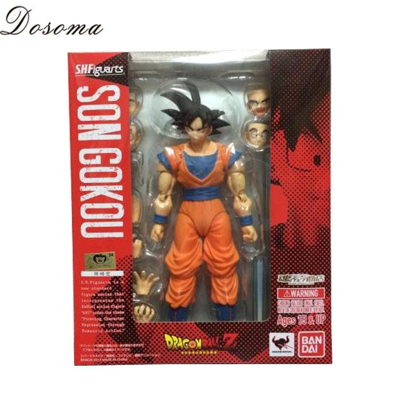 Classic Toys Anime Dragon Ball Z Action Figures PVC 16CM SHF Son Goku Action Figure Black Hair Goku Model Collection New WS20059(China (Mainland))