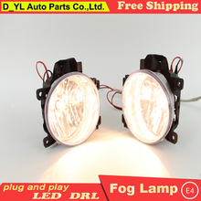 car styling Land Cruiser FJ200 LED DRL led fog lamps daytime running lights High brightness guide - D_YL Store store