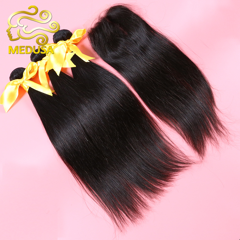 6A Peruvian Virgin Hair Straight With Closure Queen Hair Products 3 Bundles With Closure Peruvian Straight Hair With Closure(China (Mainland))