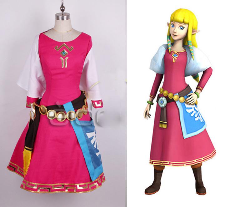 Sword zelda women cosplay dress princess zelda costume christmas