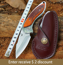 Highquality BUCK 271 folding blade survival knife 12C27M blade Rosewood handle camping Tactical Pocket hunting knives multitool (China (Mainland))