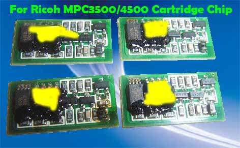 Freee Shipping Afico MP C3500/C4500 Toner Chip For Ricoh Laser Printer,For Ricoh MPC 3500 4500 Cartridge Chip For Ricoh MPC4500(China (Mainland))