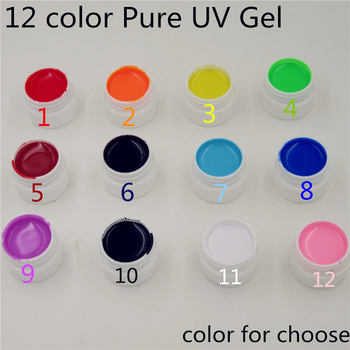 New arrive Nail Gel Polish Pure Colour Builder Solid gel Set For nail art UV lamp