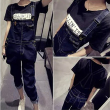 New Arrival Women Girls Top Quality Jumpsuits Denim Overalls Casual Full Length Plus Size Loose Pants Jeans