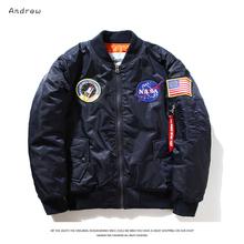 Nasa bomber Jacket men Women Pilot MA1 man Coat winter hombre Jaqueta Flight Air Force Baseball army green Kanye West jacket(China (Mainland))