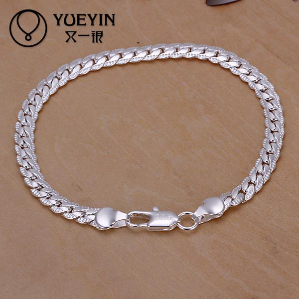 H199 Free Shipping Latest Women Classy Design Snake Chain Bracelet Fit silver Bracelet & Bangle Chain Charm Beads 16CM-21CM(China (Mainland))