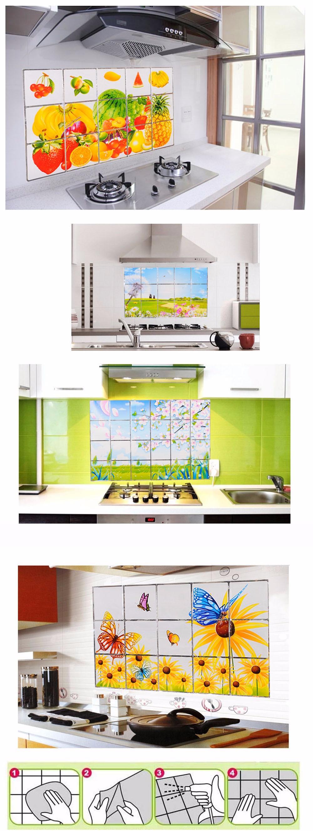 Wallpaper-Kitchen-Stickers-Waterproof-And-Oil-Proof-Stickers-Home-Decor-Kitchen-Wall-Decor-Tile-Flower-Pattern-HG0221 (10)