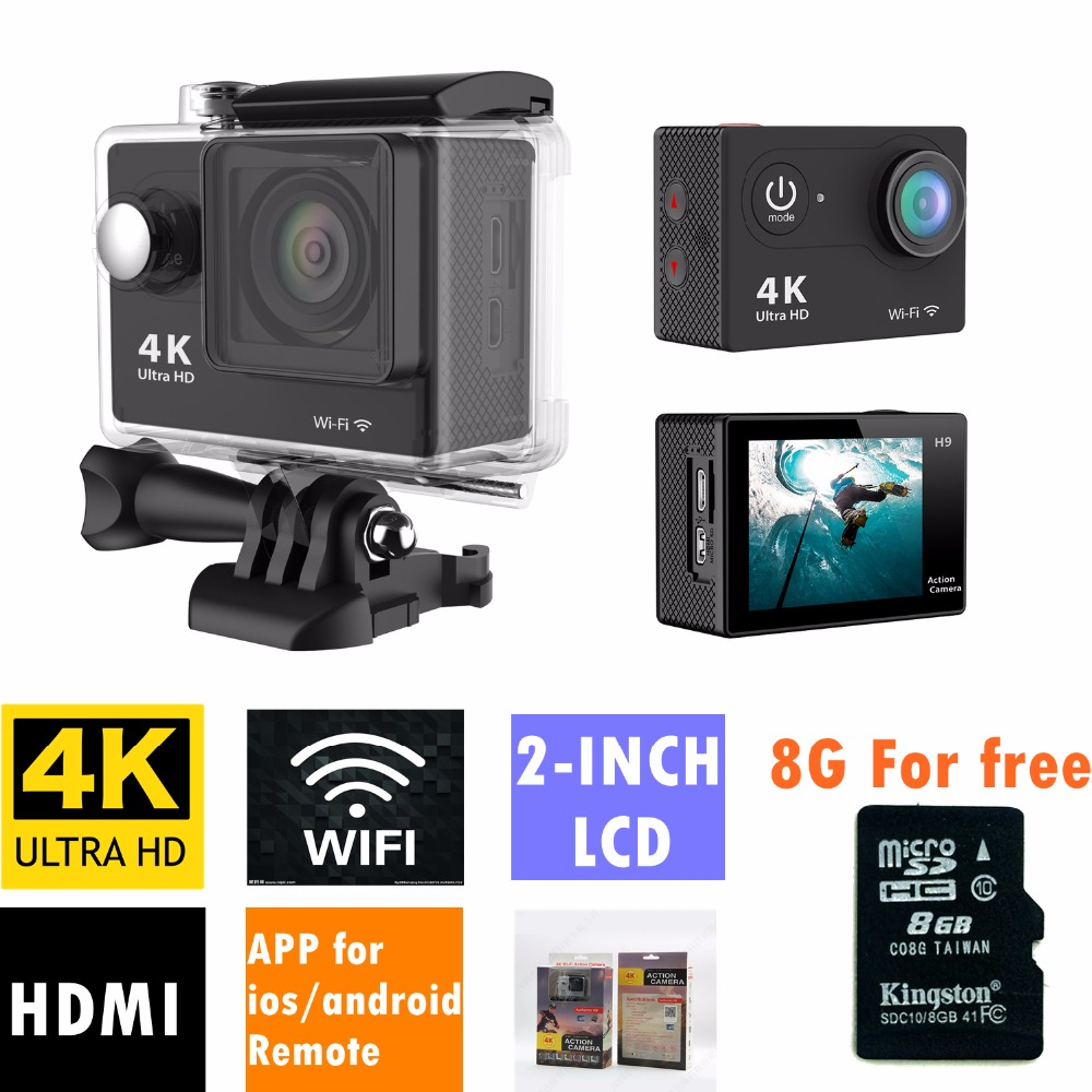 Action camera deportiva Original H9 / H9R remote Ultra HD 4K WiFi 1080P 60fps 2.0 LCD 170D go sport waterproof pro camera(China (Mainland))