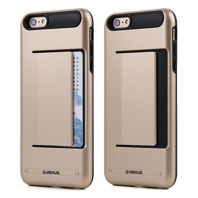 New Solid Armour Hard Back Card Storage Slide Cover case for iPhone 5 5S Credit Card Slot Layer Shock Proof Skin(China (Mainland))