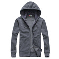 New hot spring autumn 2016 men s Korean wild fashion casual zipper couple long sleeved hooded