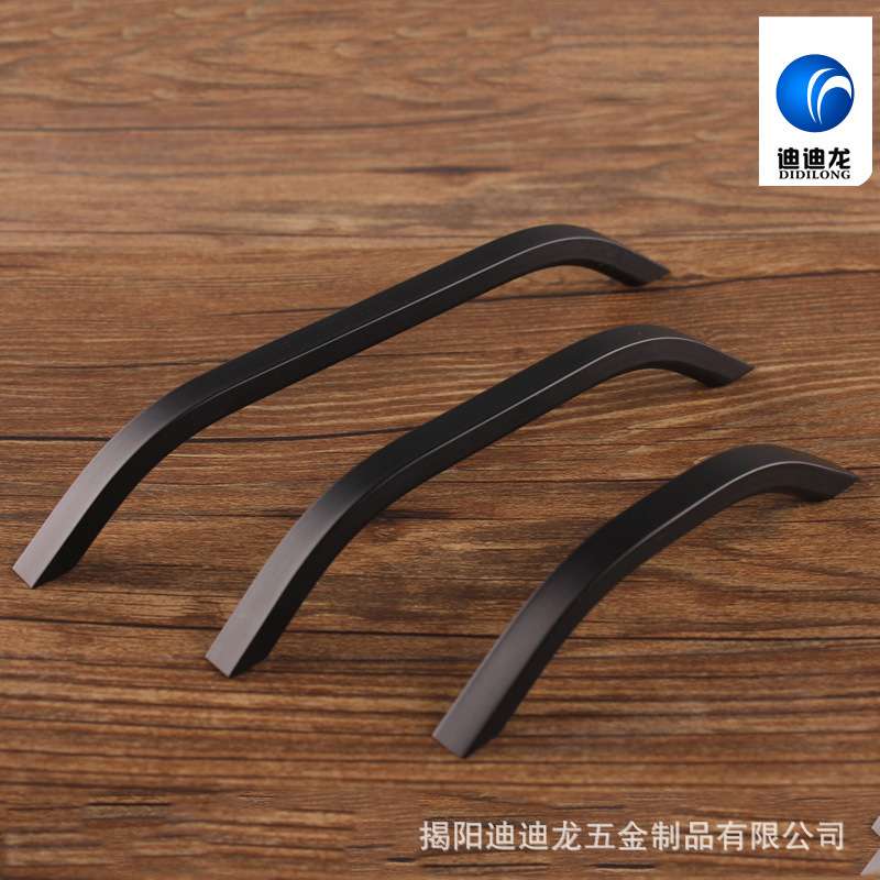 Small handle Cabinet handle black metal handle 96mm-space bathroom Cabinet pull drawer handle factory outlet(China (Mainland))