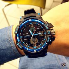 2015 moda doble movimiento deportivo multifuncional electronic llevó relojes para hombre para mujer para hombre de pulsera envío gratis