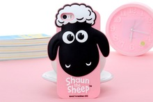 Top Quality 3D Japan Cartoon Animals Sheep Silicon Soft Shell For iPhone 6 Case