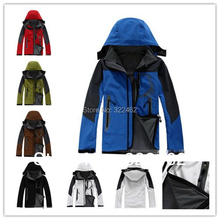 HOT Outdoor Mens jackets and coats Waterproof Windproof Soft Shell Fleece Ski (6 Color) S-XXL (SM0042) Factory(China (Mainland))