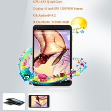 1280 800 IPS A33 ARM 8 Tablet PC IPS Android 4 4 Google 16GB Quad Core