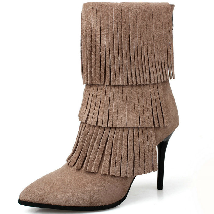 Фотография Over the Knee Boots for Women, Suede Leather High Heels Boots, Spring Autumn Winter Women Knee High Boots Knight Boots