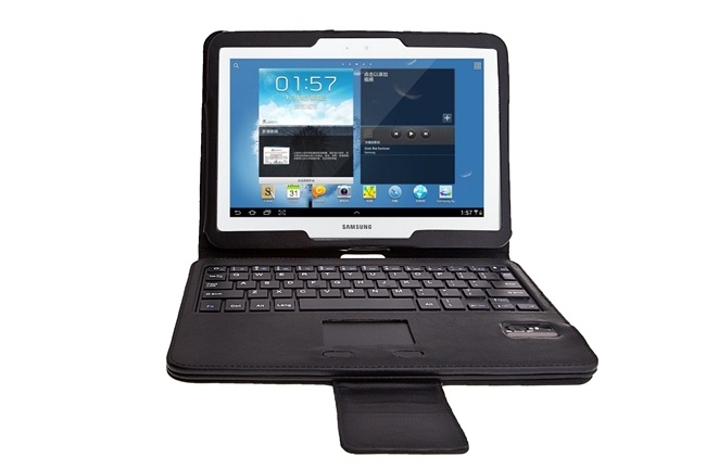 Black TouchPad Mouse Bluetooth Detachable Keyboard Folio Case Cover for Samsung Galaxy Tab 3 10.1 P5200 P5210 P5220 SG POST(Hong Kong)