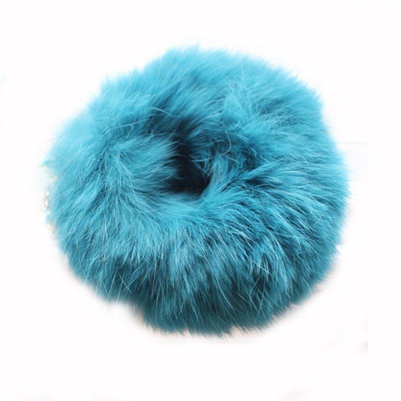 Fashion Soft Rabbit Fur Headband Elastic Ponytail Hair Rope Tail Hair Holder 1 Piece 4558(China (Mainland))