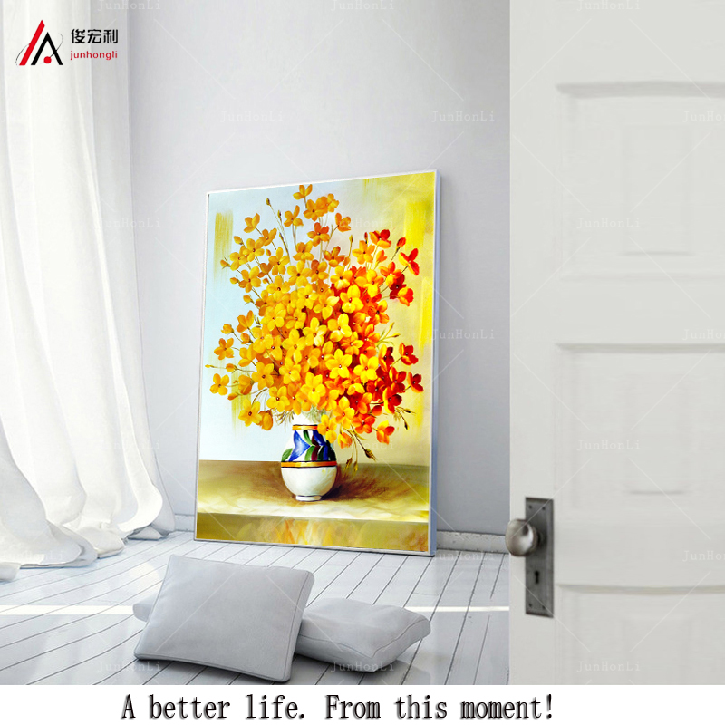 Corridor Living Modern oil painting Wall painting flower home decoration Wall Art Still Life Vase Photo prints on canvas(China (Mainland))
