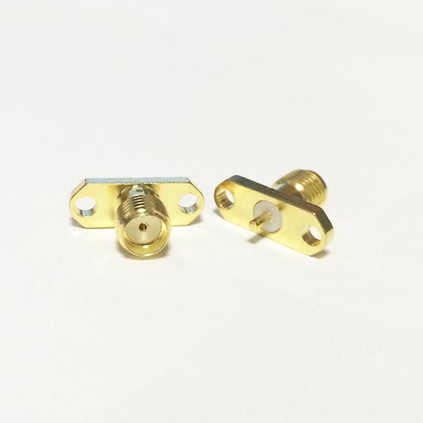 SMA  Female Jack  RF Coax Connector  2-hole flange solder post  Straight  Goldplated  NEW wholesale<br><br>Aliexpress