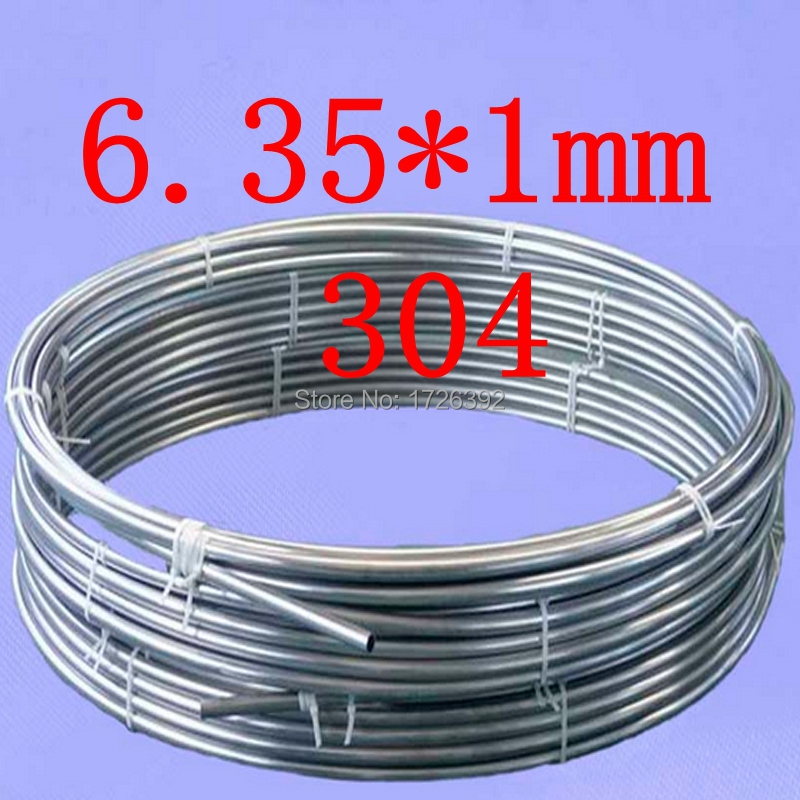 6.35*1mm,authentic 304 321 316 food grade gas oil stainless steel capillary coiled tubing,bright coil tube,pipe pipeline(China (Mainland))