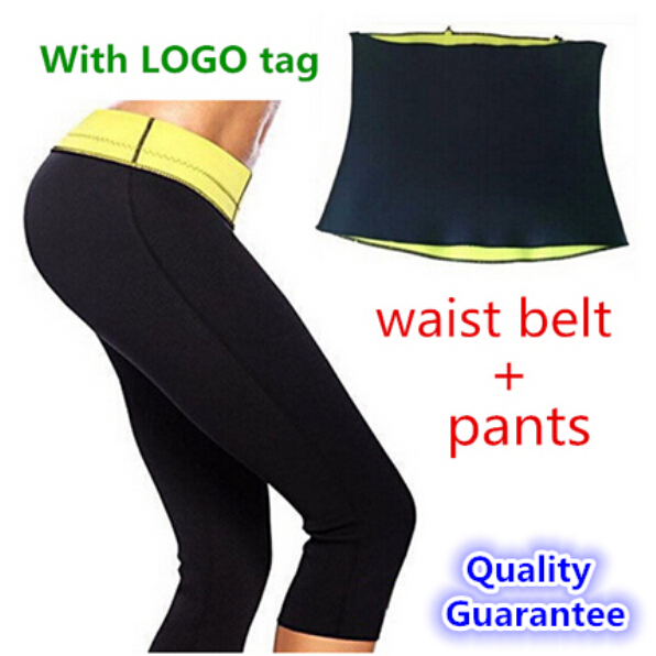 ( Pants + waist Belt ) HOT Selling Hot Shapers Sports pants set Women's Slimming Sets Body shaper Waist training corsets